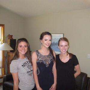 Navy jeweled illusion prom dress